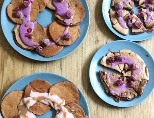Schoko-Bananen-Pfannkuchen
